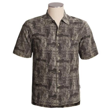 Woolrich Blackwell Shirt - Cotton Island Cloth, Short Sleeve (For Men)