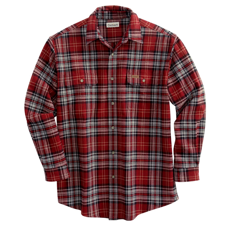 Carhartt Heavyweight Flannel Work Shirt For Men 2122u
