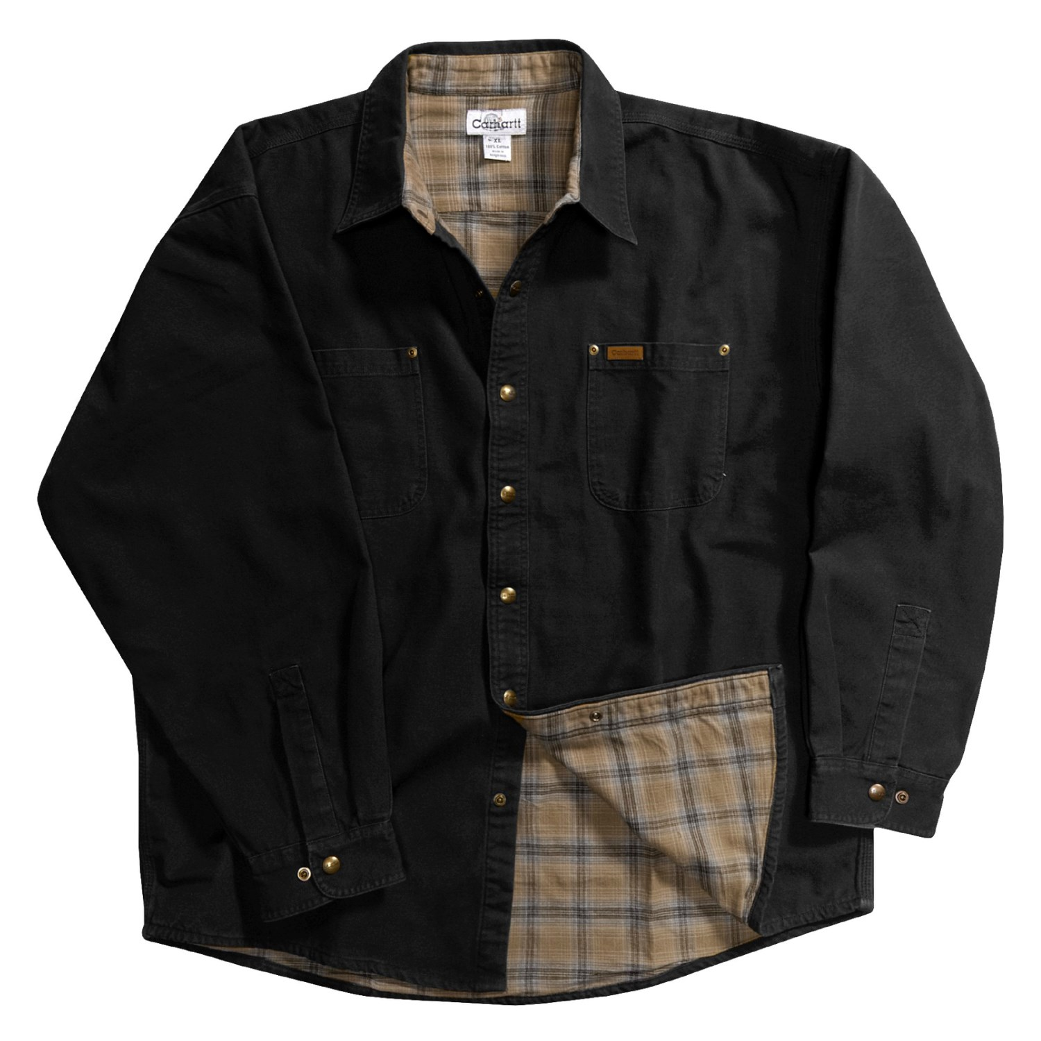 Carhartt Canvas Shirt Jacket For Tall Men 2122y