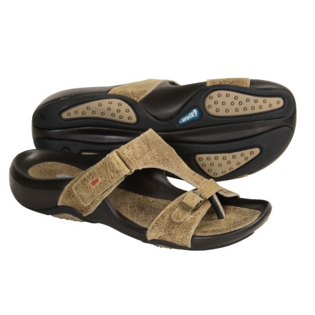 Wolky Samoa Thong Sandals - Leather Slip-Ons (For Women)