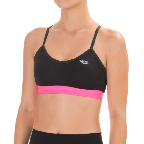PONY Mesh Racerback Sports Bra - Low Impact, Removable Cups (For Women)