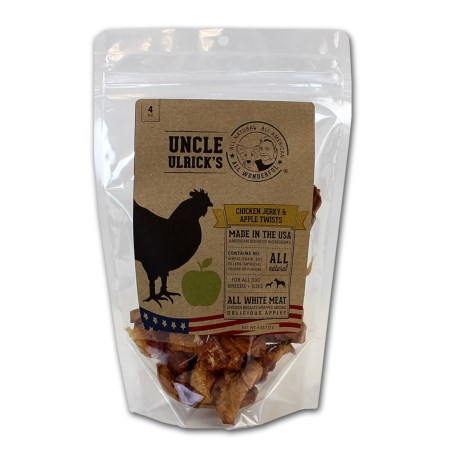 Uncle Ulrick's Uncle Ulricks Chicken Jerky and Apple Twists Dog Treats - 4 oz.