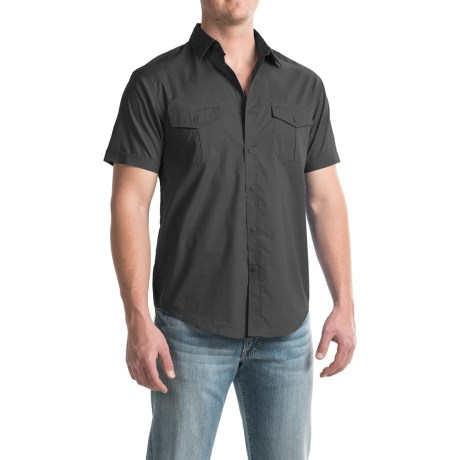 Bruno Button-Down Pilot Shirt - Short Sleeve (For Men)