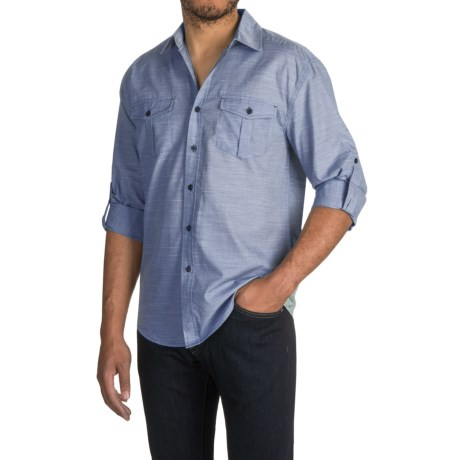 Bruno Space-Dyed Button-Up Shirt - Long Sleeve (For Men)