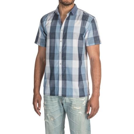 Bruno Buffalo Plaid Chambray Button-Up Shirt - Short Sleeve (For Men)