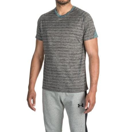 Bruno V-Neck Striped Color-Block T-Shirt - Short Sleeve (For Men)
