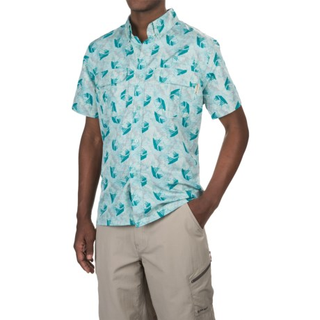 Tallwoods Button-Up Fishing Shirt - Short Sleeve (For Men)