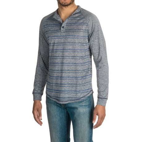 Raw Yarn Industries Striped Henley Shirt - Long Sleeve (For Men)