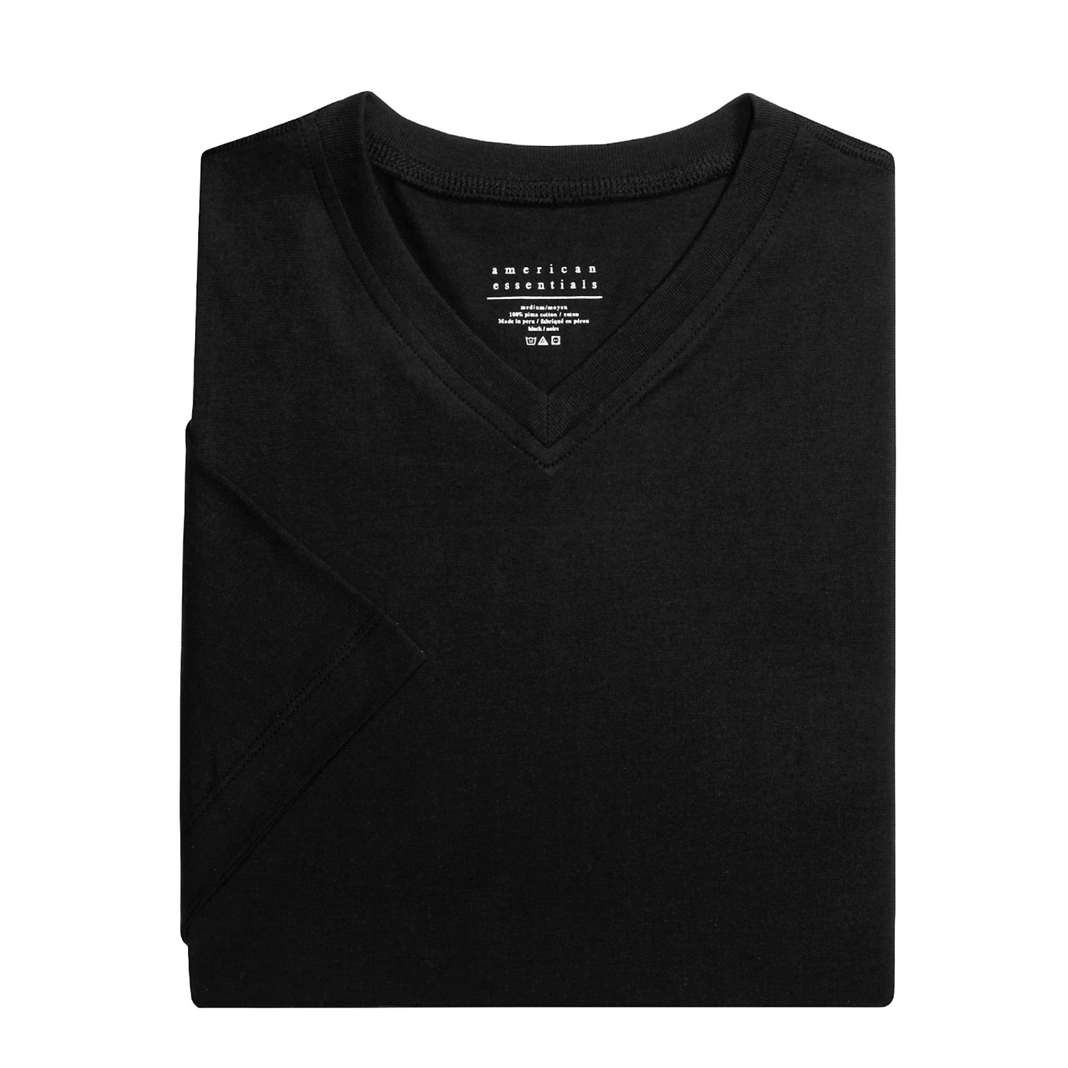 American essentials v neck t shirt for men 2137c save 41 for Peruvian cotton t shirts