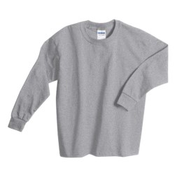 Gildan Cotton T-Shirt - Long Sleeve (For Youth)