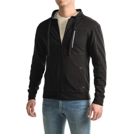 Specially made Three-Pocket Solid Zip-Front Hoodie (For Men)