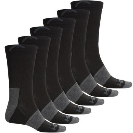 Head Swift-Dry® Pique Welt Socks - 6-Pack, Crew (For Men)