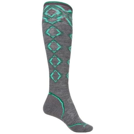 SmartWool PhD Pattern Ski Socks - Merino Wool, Over the Calf (For Women)