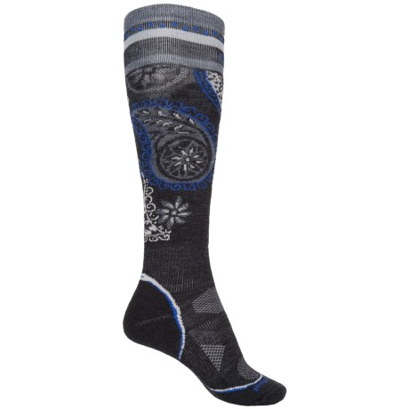 SmartWool PhD Light Pattern Ski Socks - Merino Wool, Over the Calf (For Women)
