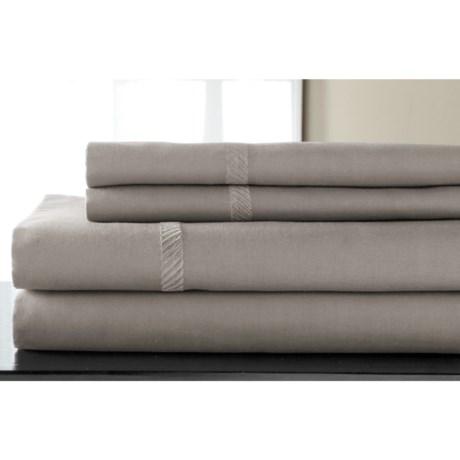 Elite Home Verona Cotton Wrinkle Resistant Sheet Set - Queen, 300 TC