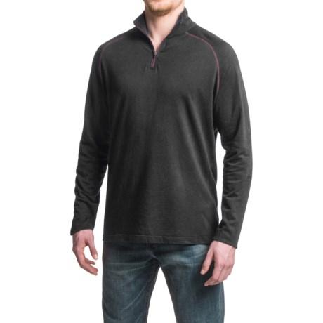 Agave Denim Agave Mock Baby Terry Shirt - Cotton-Modal, Zip Neck, Long Sleeve (For Men)