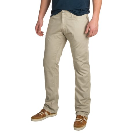 Agave Denim Agave Pragmatist Sateen Khaki Oxford Pants - Classic Fit, Straight Leg (For Men)