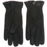 Woolrich Richville Suede Gloves - Chenille Fleece Lined (For Women)