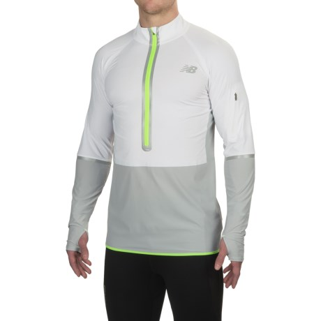 New Balance Precision Run Shirt - Zip Neck, Long Sleeve (For Men)