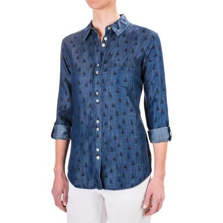 Foxcroft Zoey TENCEL® Shirt - Roll-Up Long Sleeve (For Women)