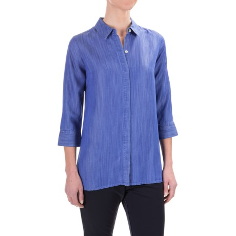 Foxcroft Gigi TENCEL® Tunic Shirt - Tie-Back, 3/4 Sleeve (For Women)