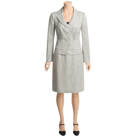 Atelier Tweed Skirt Suit - Pintuck Front (For Women)