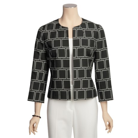 Austin Reed Black Label Deco Squares Jacket - Open Front (For Women)