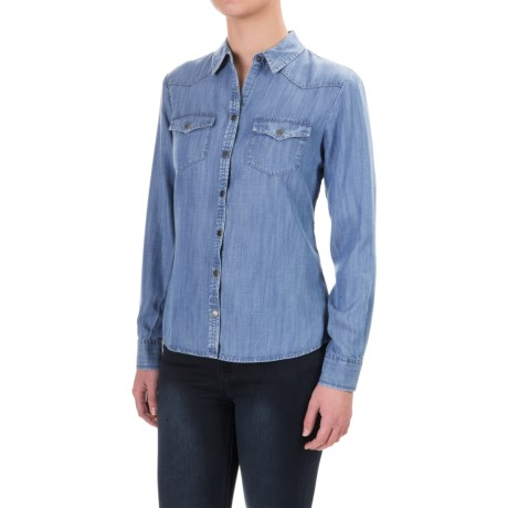 Foxcroft TENCEL® Western Shirt - Snap Front, Long Sleeve (For Petite Women)