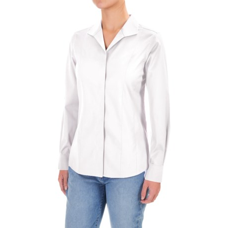 Foxcroft Eva Essential Fitted Shirt - Long Sleeve (For Women)