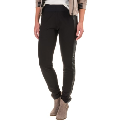 Foxcroft Techno Faux-Leather Paneled Leggings (For Women)