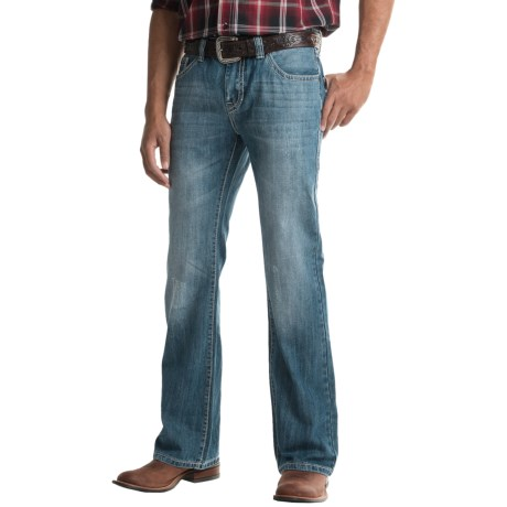 Rock & Roll Cowboy Pistol Raised-V Pocket Jeans - Bootcut (For Men)