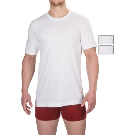 Reebok Cotton Crew Undershirts - 3-Pack, Short Sleeve (For Men)