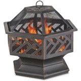 "Blue Rhino 27"" Hexagon-Shaped Outdoor Fire Pit"