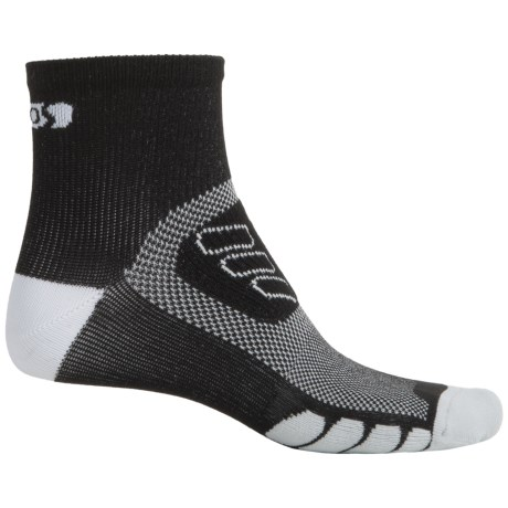 Eurosock Cycle Silver Socks - Quarter Crew (For Men and Women)