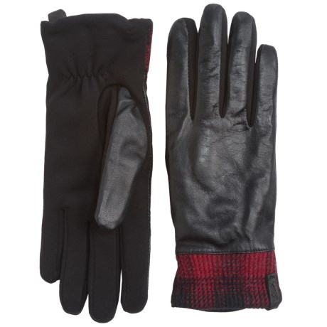 Woolrich Avondale Leather Gloves - Fleece Lined (For Women)