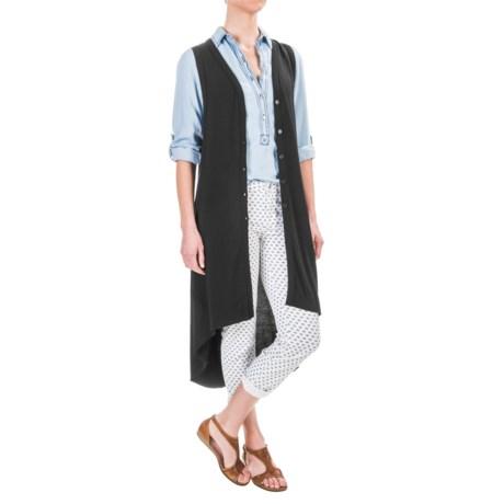 Philosophy Republic Clothing Philosophy High-Low Long Cardigan Sweater - Sleeveless (For Women)