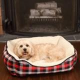 """Woolrich Buffalo Plaid Cuddler Dog Bed - 28x23"""""""
