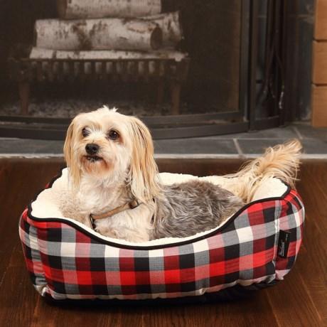 """Woolrich Buffalo Plaid Cuddler Dog Bed - 20x18"""""""