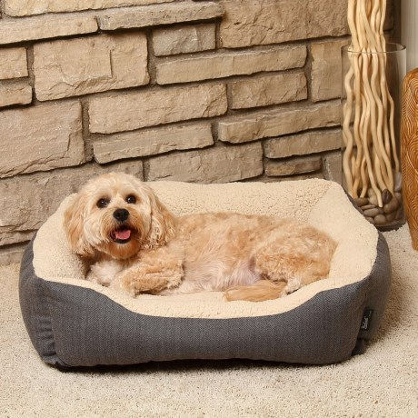 Woolrich Herringbone Cuddler Dog Bed - 28x23""