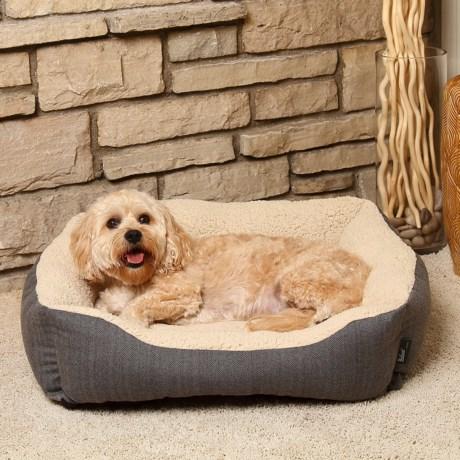 "Woolrich Herringbone Cuddler Dog Bed - 28x23"""