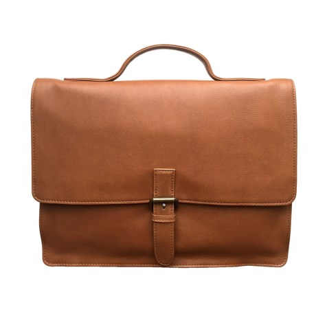 James Campbell Slim Leather Briefcase
