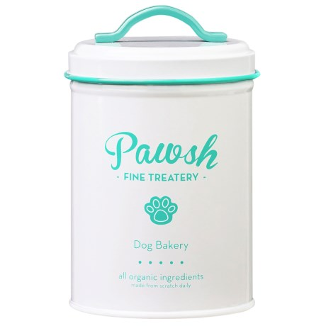 Global Amici Amici Pawsh Metal Dog Treat Canister - 44 oz.