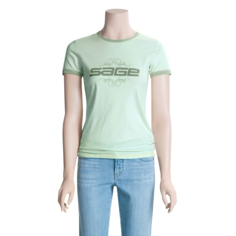 Sage Ringer T-Shirt - Short Sleeve (For Women)