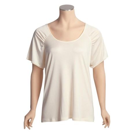Austin Reed Silk Jersey Shirt - Plus Size, Short Sleeve (For Women)