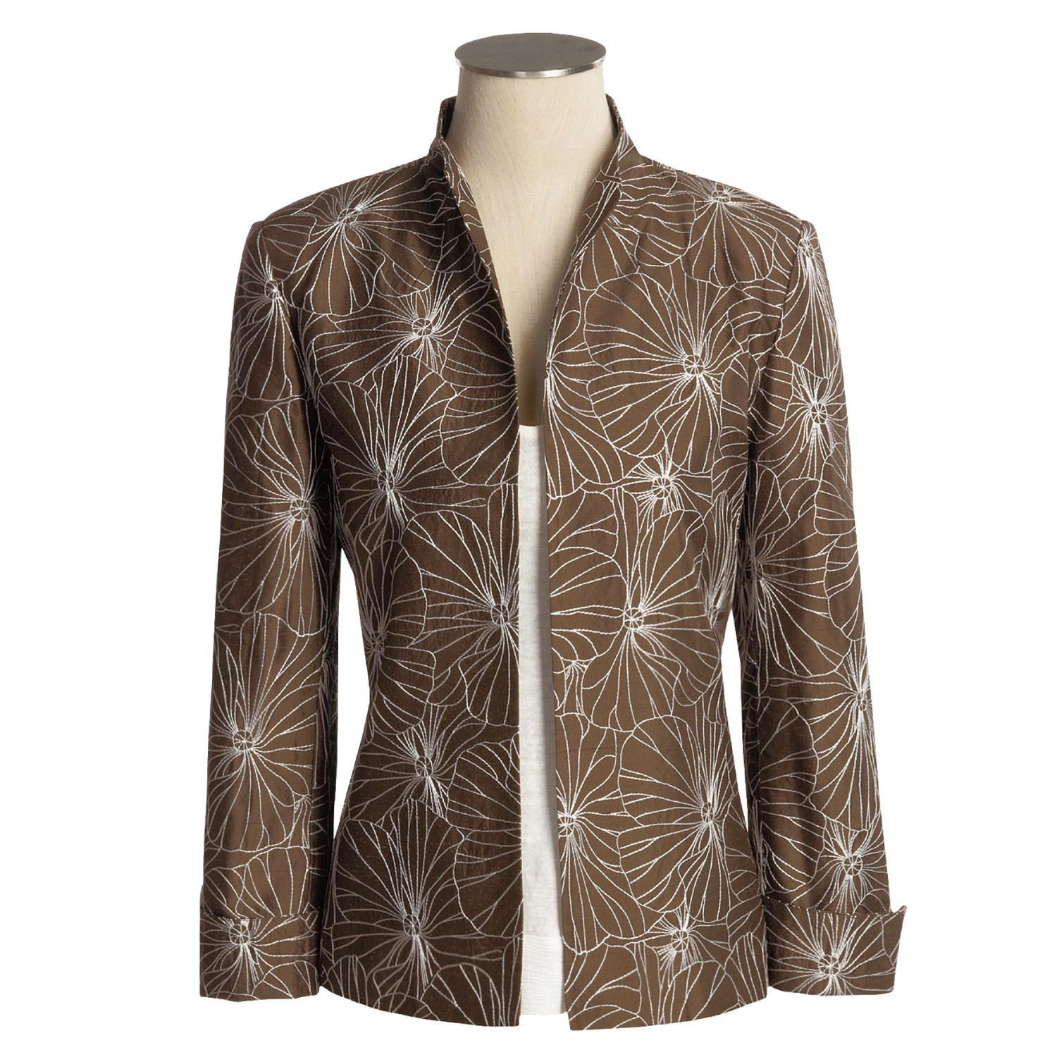 Austin reed embroidered silk jacket for women