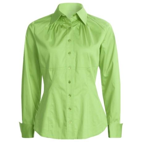 Eye Cotton Sateen Shirt - Corset Detail, Long Sleeve (For Women)
