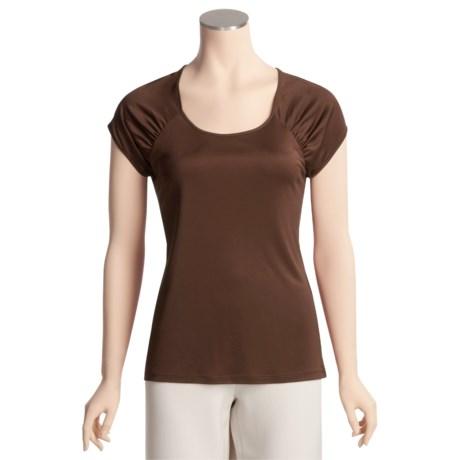 Eye Silk Jersey Shirt - Short Sleeve (For Women)