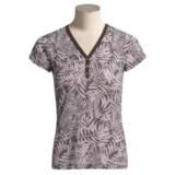 prAna Alex V-Neck Henley Shirt - Organic Cotton, Short Sleeve (For Women)
