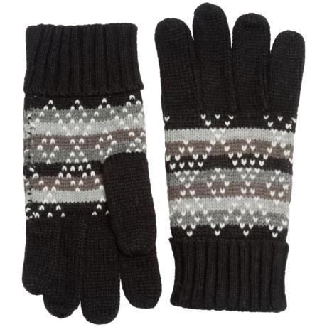Woolrich Fair Isle Knit Gloves (For Women)