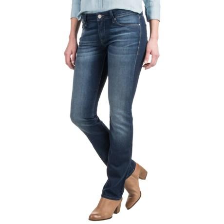 Mavi Kerry Indigo Cigarette Leg Jeans - Stretch Cotton Blend, Mid Rise (For Women)